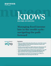 Managing fixed income late in the credit cycle: navigating the path forward