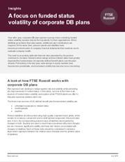 a focus on funded status volatility of corporate db plans