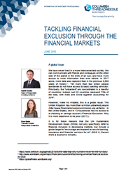 tackling financial exclusion through the financial markets