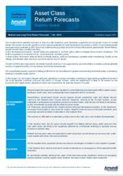 asset class return forecasts q3 2019