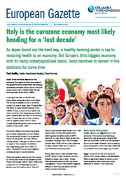 Italy is the eurozone economy most likely heading for a 'lost decade'