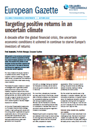 Targeting positive returns in an uncertain climate