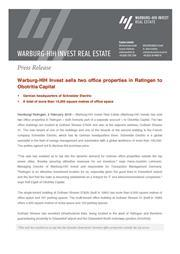 Warburg-HIH Invest sells two office properties in Ratingen to Obotritia Capital