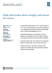 high yield market shows strength
