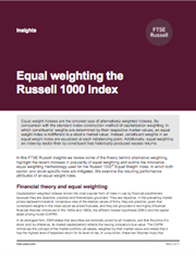equal weighting the russell 1000 index