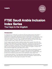 ftse saudi arabia inclusion index series
