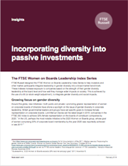 incorporating diversity into passive investments