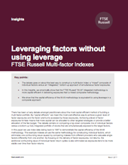 leveraging factors without using leverage