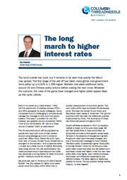 the long march to higher interest rates