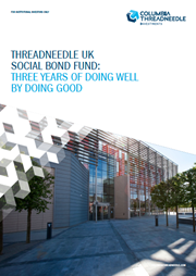 threadneedle uk social bond fund three years of doing well by doing good