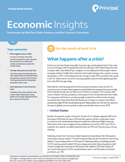 economic insights april 2018