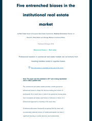 five entrenched biases in the institutional real estate market