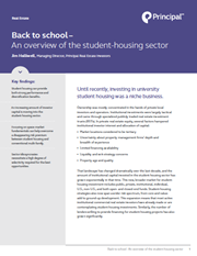 back to school an overview of the student housing sector