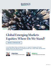Global Emerging Markets Equities: Where Do We Stand?