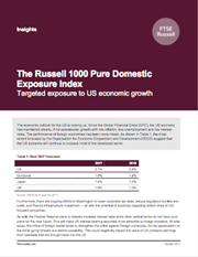 the russell 1000 pure domestic exposure index