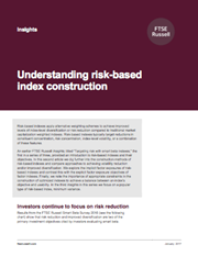 understanding risk based index construction