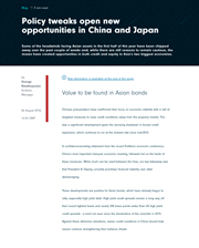 policy tweaks open new opportunities in china and japan