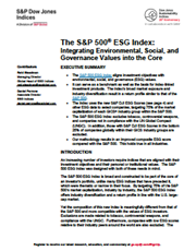 The S&P 500® ESG Index: Integrating Environmental, Social, and Governance Values into the Core