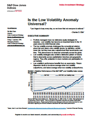 Is the Low Volatility Anomaly Universal?