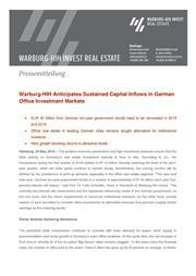 2018 05 24 press release warburg hih anticipates sustained capital inflows in german office investment markets page 1