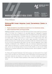 2018 06 08 press relaease warburg hih invest acquires local convenience centre in bielefeld page 1