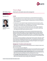 time to align rewiring the conversation about active management