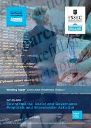 Environmental Social And Governance Proposals And Shareholder Activism