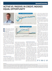PIMCO - Active vs passive in credit indexes equal opportunity