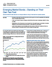 Emerging Market Bonds—Standing On Their Own Two Feet