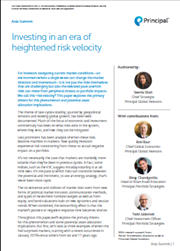 Investing in an era of heightened risk velocity