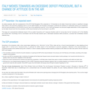 italy moves towards an excessive deficit procedure