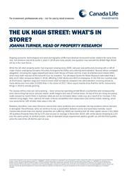 image the uk high street whats in store copy