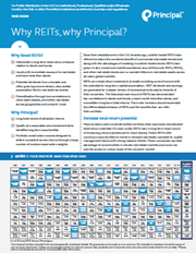 Why REITs, why Principal?