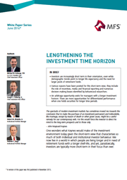 lengthening the investment time horizon