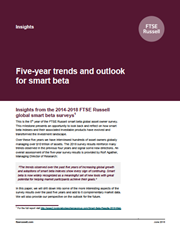 five year trends and outlook for smart beta