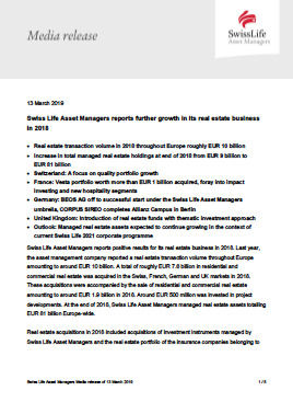 Swiss Life Asset Managers (Real Estate) | IPE Reference Hub