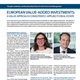 european value added investments a value approach consistently applied to real estate