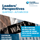 Leaders' Perspectives - Quarterly – Autumn 2019
