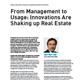 From Management to Usage: Innovations Are Shaking up Real Estate