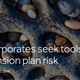 Corporates seek tools to reduce pension plan risk
