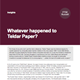whatever happened to teldar paper