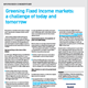 Greening Fixed Income markets: a challenge of today and tomorrow
