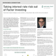 taking interest rate risk out of factor investing
