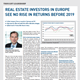 real estate investors in europe see no rise in returns before 2019