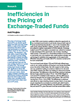 inefficiencies in the pricing of exchange traded funds