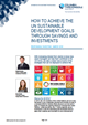 how to achieve the un sustainable development goals through savings and investments